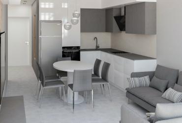 Дизайн интерьера в однокомнатной квартире в Киеве, ЖК Seven
