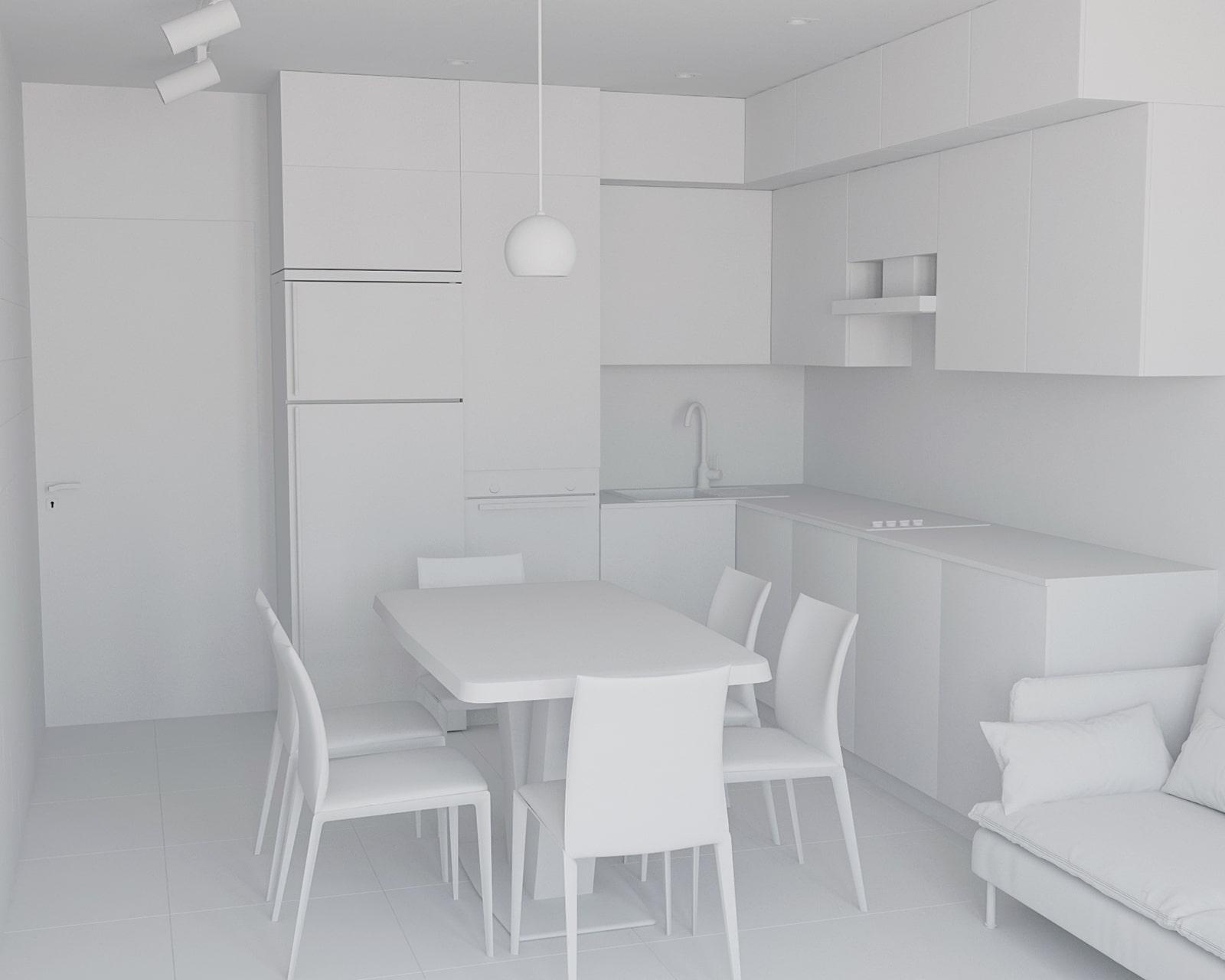 Дизайн однокомнатной квартиры в Киеве ЖК Seven