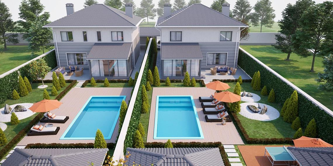 3D-визуализация дома, эскизный проект в Одессе