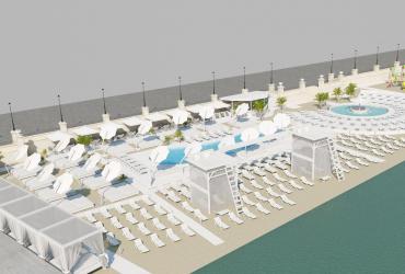 Эскизный проект пляжа Золотой берег Одесса