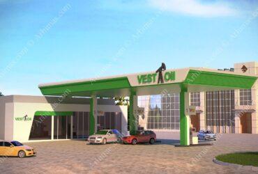 Проект 3D-визуализация АЗС Одесса автозаправка
